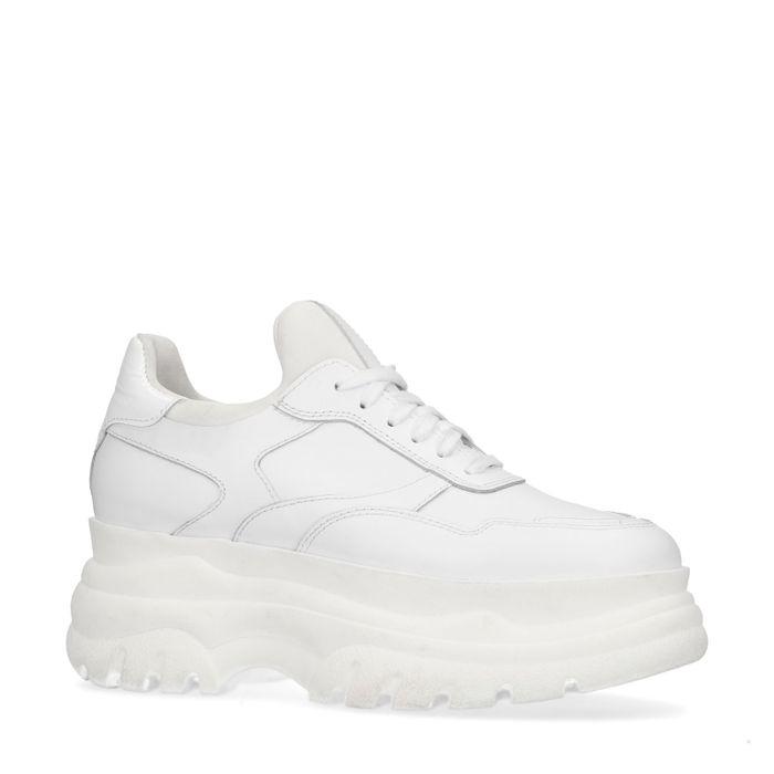 Witte chunky sneakers met platform