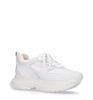 Witte dad sneakers met snakeskin