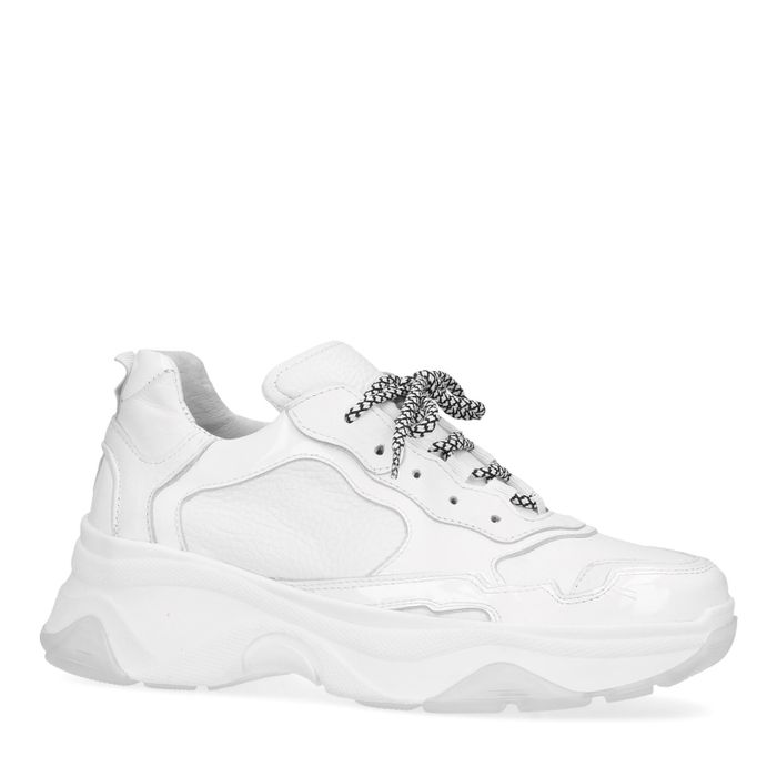 Dad sneakers wit