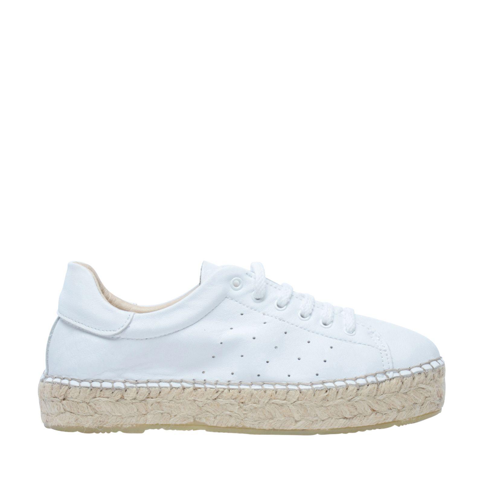 f94715f36e8 Witte lage sneakers met touwzool - Damesschoenen – SACHA