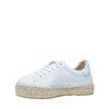 Witte lage sneakers met touwzool