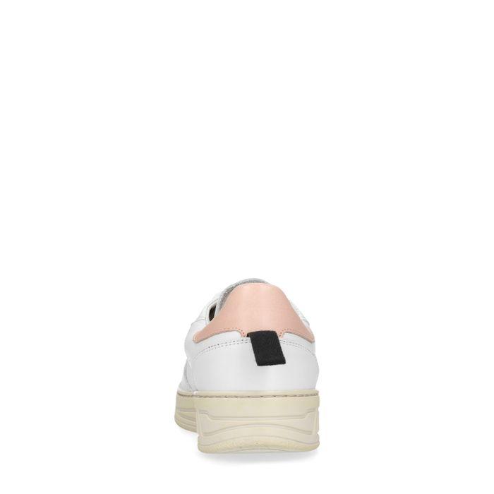 Witte sneakers met roze detail