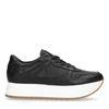 Zwarte leren platform sneakers