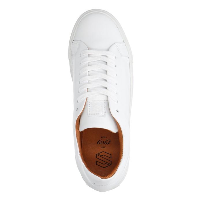 77703a36e47 Witte leren lage sneakers - Damesschoenen – SACHA