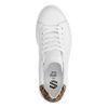 Witte platform sneakers met panterprint detail