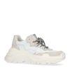 Witte dad sneakers met plateau zool