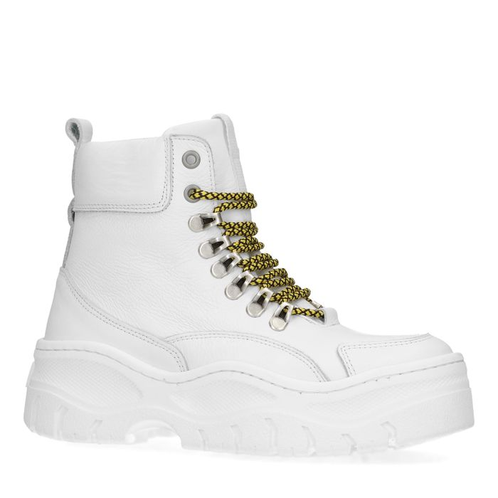 Witte chunky hoge sneakers