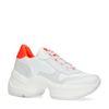Witte dad sneakers met oranje details
