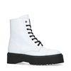 Witte platform biker boots