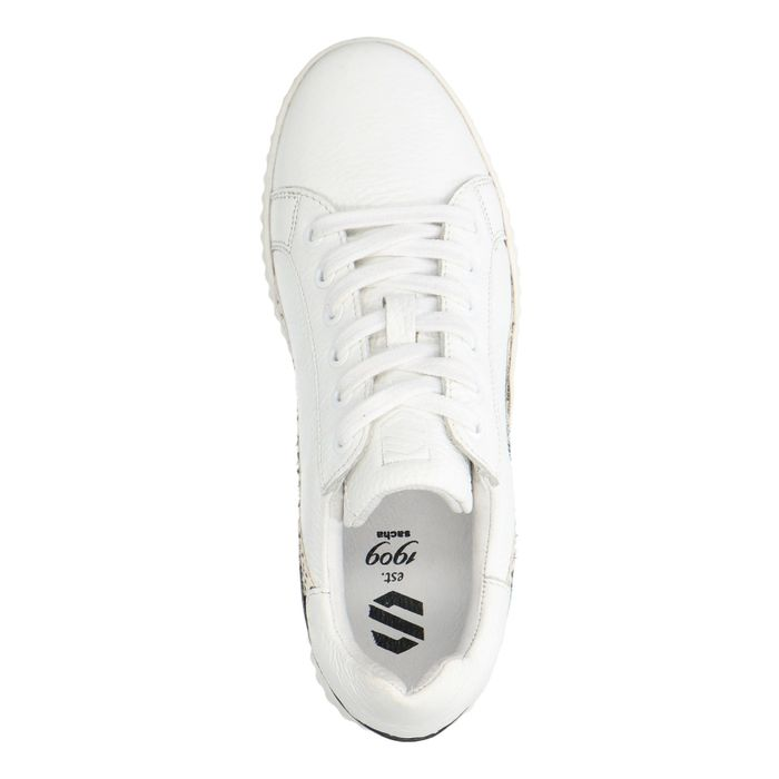 Witte sneakers met animal print