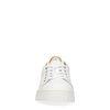 Witte sneakers met geel detail