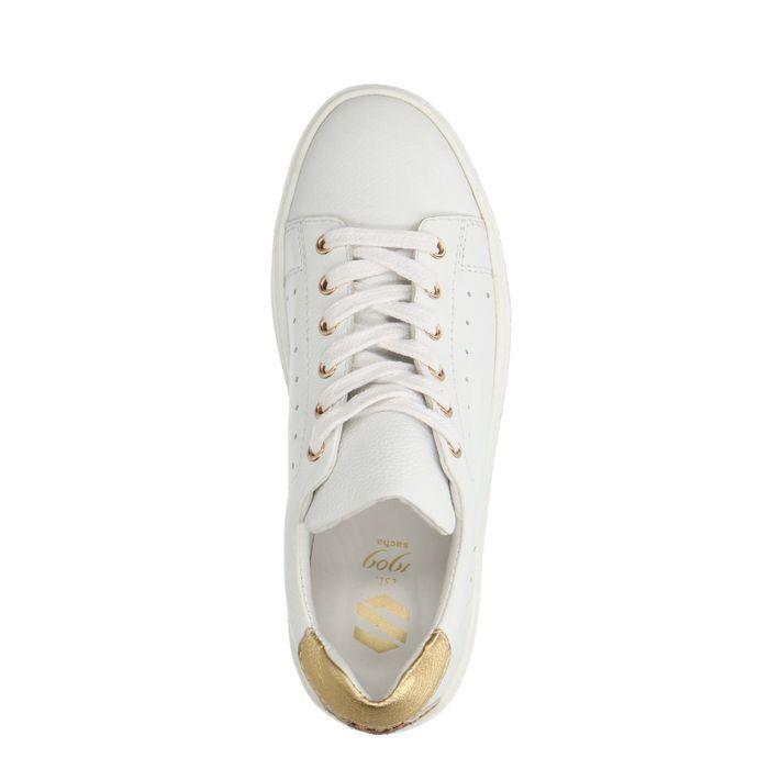 Witte plateau sneakers met details