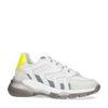 Witte sneakers met neon detail