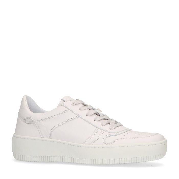 Witte leren sneakers