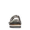 Zilveren plateau slippers met studs