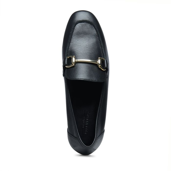 Loafers met gouden gesp