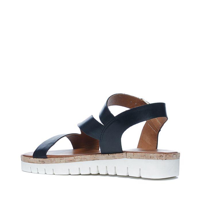 Plateau sandalen zwart