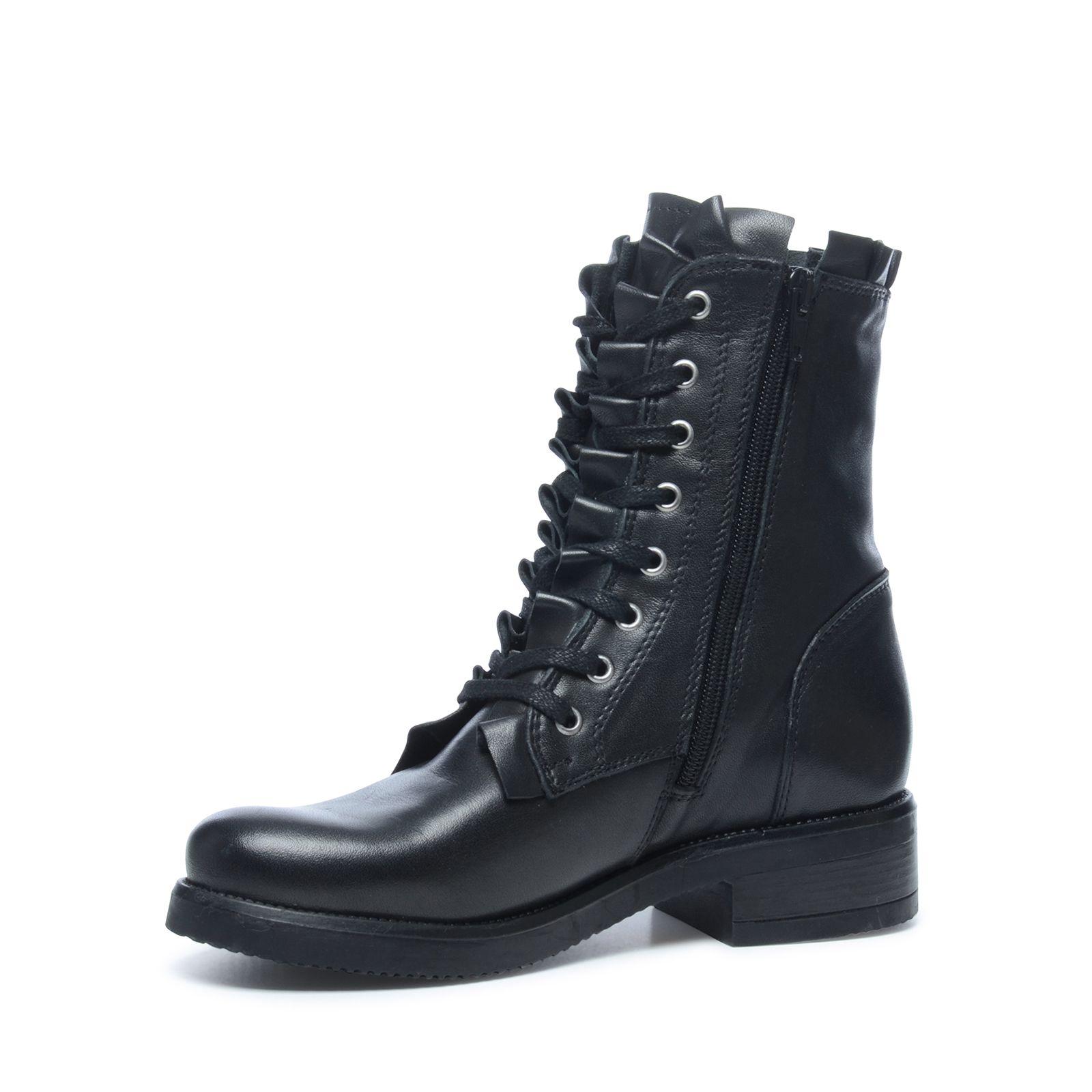 Sacha Biker boots met ruffles en veters