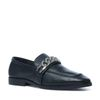 Zwarte loafers met metalen detail