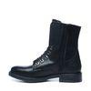 Zwarte biker boots met riem