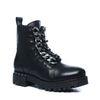 Zwarte biker boots met chain