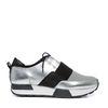 Zilverkleurige lage sneakers