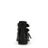 Zwarte cut out boots met studs