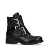 Biker boots met cut out en gespen
