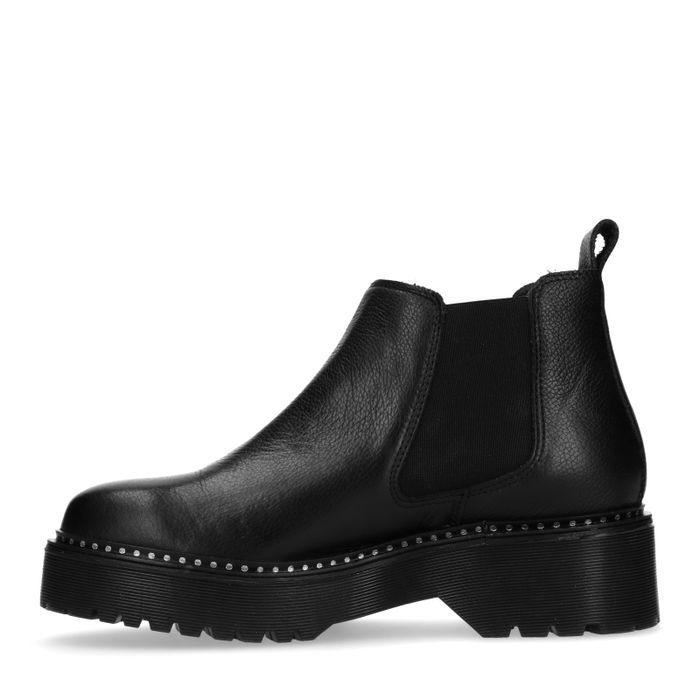 Zwarte platform chelsea boots
