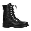 Zwarte biker boots met imitatiebont