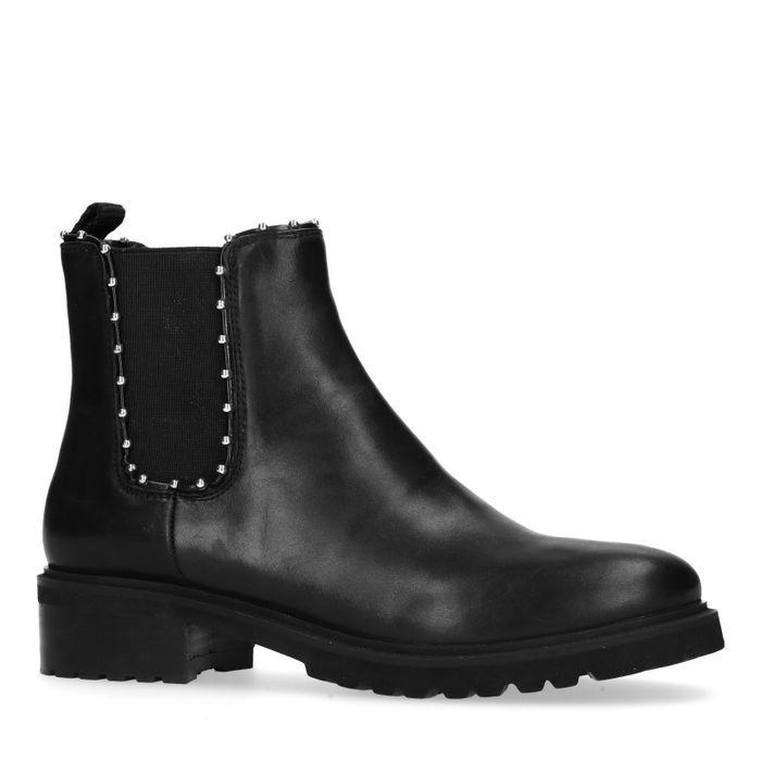 Zwarte chelsea boots met studs