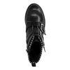 Zwarte biker boots met 3 gespen en studs