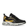 Zwarte lage sneakers met details