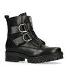Biker boots met gespen zwart