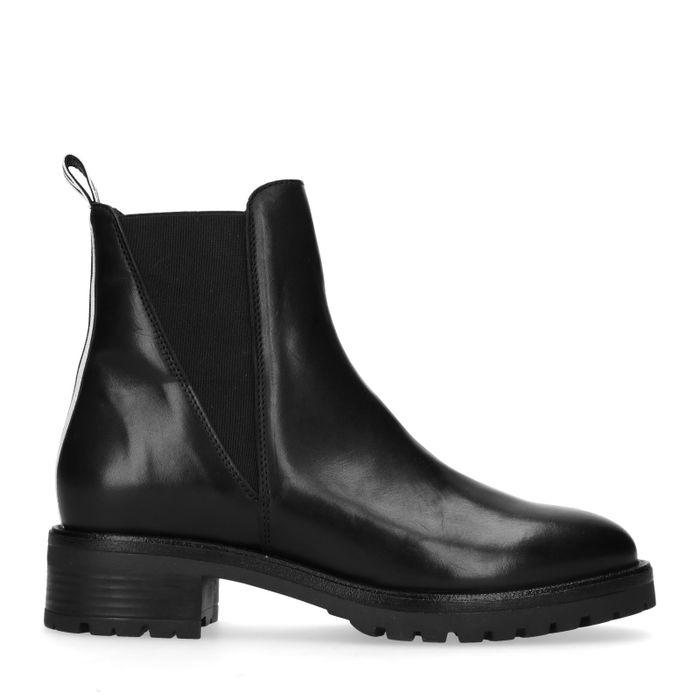 Sacha x Luxblog zwarte chelsea boots met sportstrap