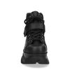 High top chunky sneakers zwart
