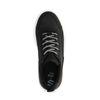 Zwarte dad sneakers met witte plateau zool