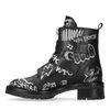 Zwarte biker boots met tekst