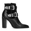 Zwarte buckle boots met hak