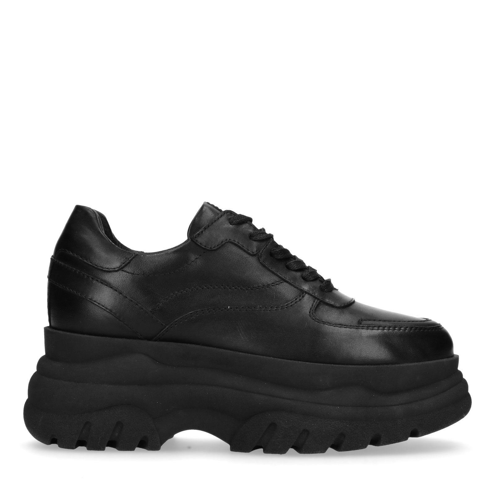 zwarte leren dames schoenen