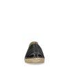 Zwarte espadrilles met croco detail