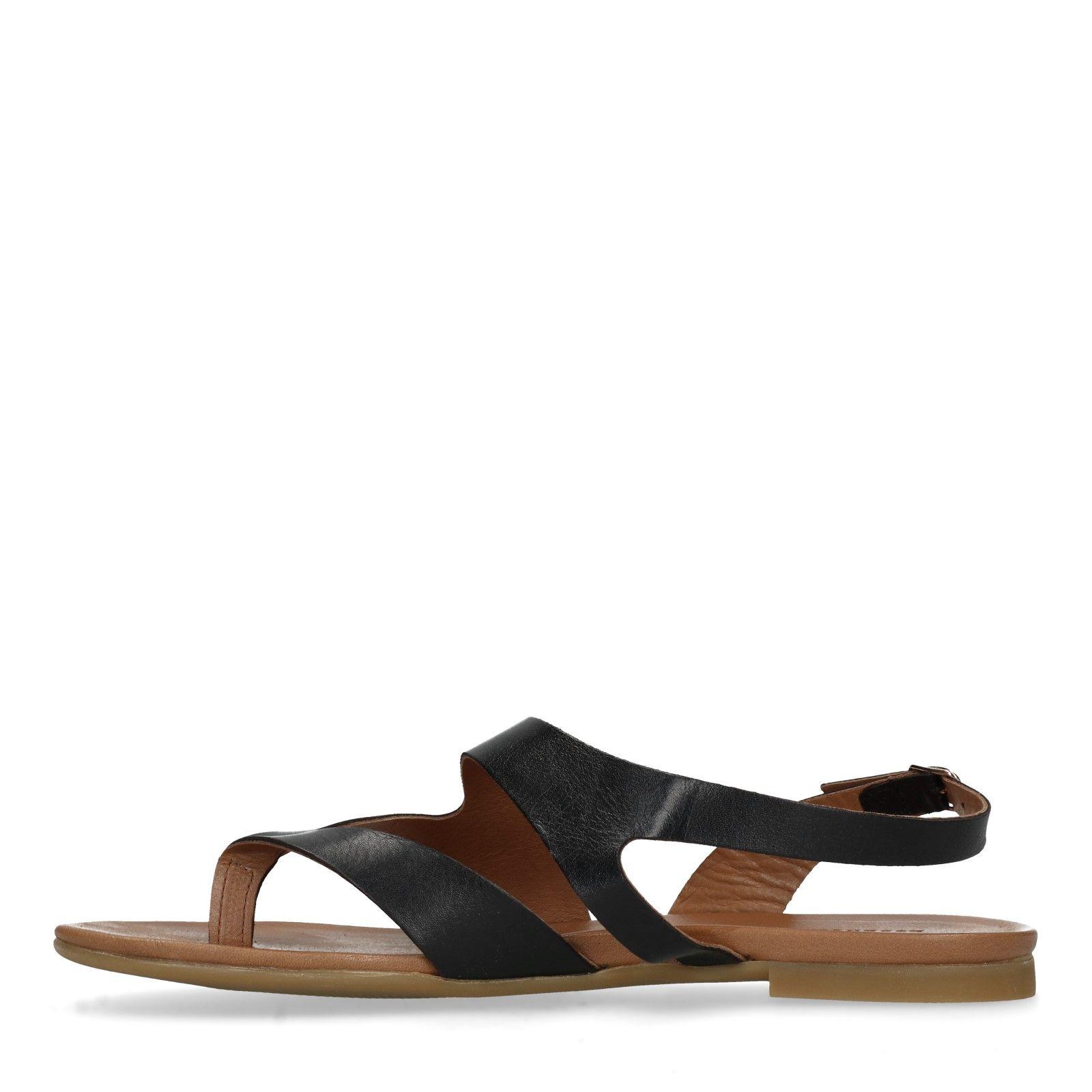 Leren sandalen Bo | zwart
