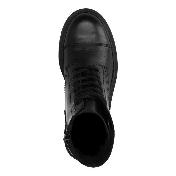 Zwarte biker boots met plateau zool