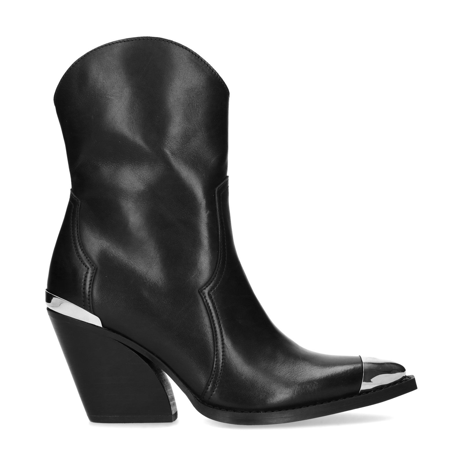 Zwarte hoge cowboy laarzen Damesschoenen – SACHA
