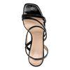 Lak zwarte sandalen met hak