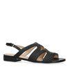 Zwarte sandalen van leer