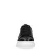 Zwarte platform sneakers met panterprint detail