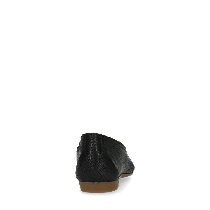 Zwarte leren loafers met structuur