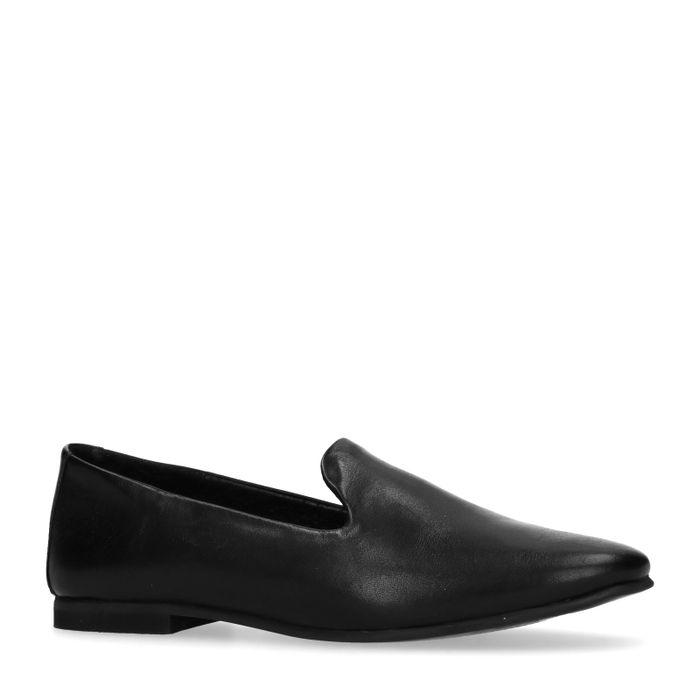 Zwarte loafers van leer
