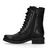 Zwarte biker boots met ruffles en veters